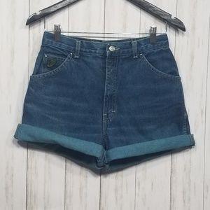 Vintage Zena high-waisted mom shorts